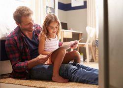 Poltrona especial para contar histórias para os filhos