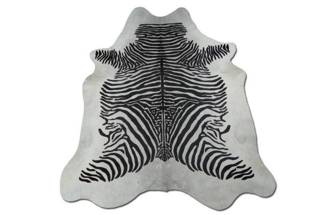 Tapete de Couro Pele Zebra Columa Estampada