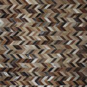 Tapete de Couro TP2 Costurado e Forrado - Tons de Marrom e Bege Médio